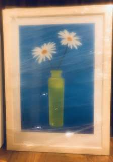 Daisy print in white frame - plastic wrapped