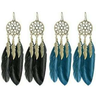 Bohemia Style Feather Earrings