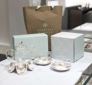 Crabtree and evelyn teapot set