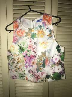 floral cropped top 🌸
