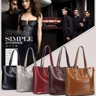 Korean Leather Shoulder Tote Bag Sling Bag