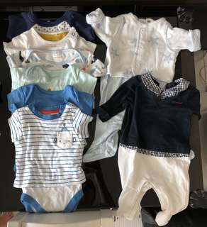 Baby boy clothes (0-1-2 months)