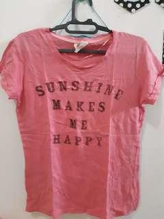 Cotton on tshirt pink