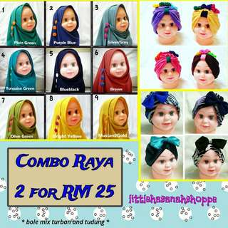Turban and tudung baby - NEW