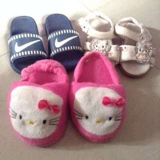 Baby slippers 100 for 3pcs.