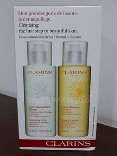 400ml 2pcs CLARINS CLEANSING DUO NORMAL TO DRY SKIN