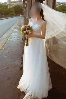 婚後物資 wedding gown 輕婚紗 婚嫁 新娘 pre wedding Wedding Dress