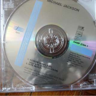 Michael Jackson Mega Rare German Promo CD Scream single History