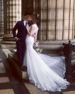 婚後物資 wedding gown 輕婚紗 魚尾裙 魚尾 婚嫁 新娘 拖尾婚紗 pre wedding