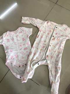 Mothercare Sleepsuit and Romper
