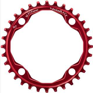 🆕! 32T Absoluteblack 104bcd Narrow Wide Single Chainring  #OK 104 Bcd Red Chain Ring