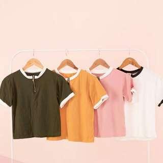 Trendy Blouse w/ zipper