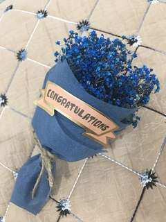 Congratulations graduation dried baby Breathe Bouquet 15cm