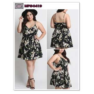 CODE: MPS-0419 Plus Size Floral Casual Dress