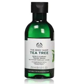 the body shop tea tree 250ml