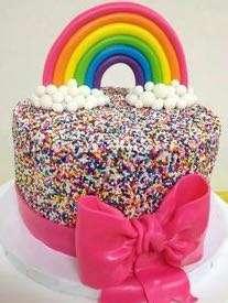 SPRINKLE CHOCOLATE CAKE
