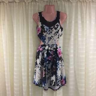 Floral Paint Dress