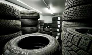 Tire storage space