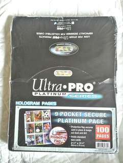 ULTRA PRO 9 POCKET SLEEVES (SUITABLE FOR MONSTA X PC)