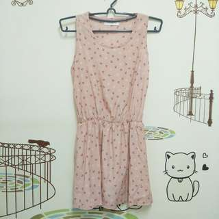 🚚 粉紅色船錨無袖背心洋裝