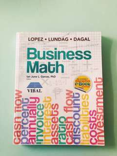 SHS book for sale - Business Math
