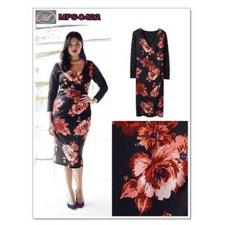 CODE: MPS-0422 Plus Size Floral Dress