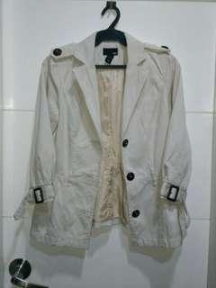 Authentic h&m light jacket blazer cream xs