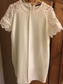 Zara 白色蕾絲 洋裝