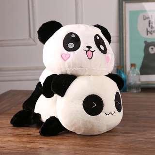 Panda lying stuffed toy