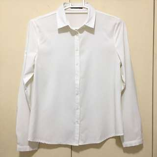 White long sleeves button down polo