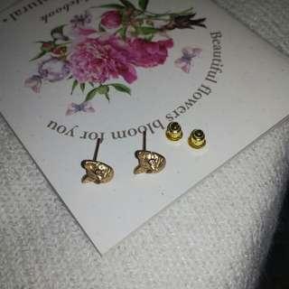 Cat piercing studs earrings