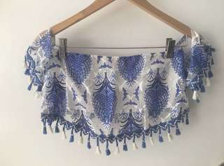 Romour boutique set - blue and white top and bottom set