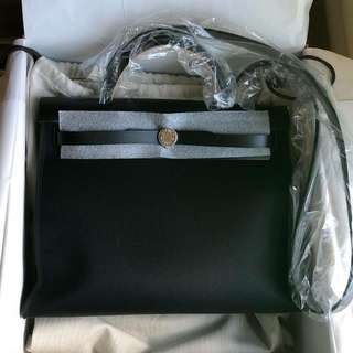 Hermes 31cm 全黑 all Black Herbag