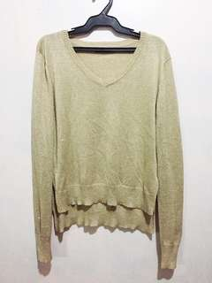 Cotton On V-Neck Long Sleeve Top