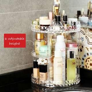 360 Rotatable Acrylic Makeup Organizer Diamond Style