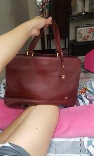 authentic elegance paris red hand bag