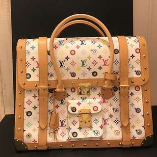 Authentic Louis Vuitton Multicolore Eye dare you overnight by Takashi Murakami