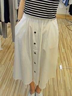 🚚 棉麻純白長裙