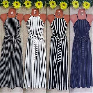 🌻Stripes Halter and Square Pants Terno