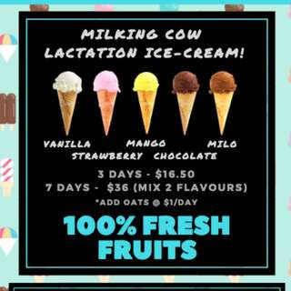 Milking Cow Lactation Ice Cream