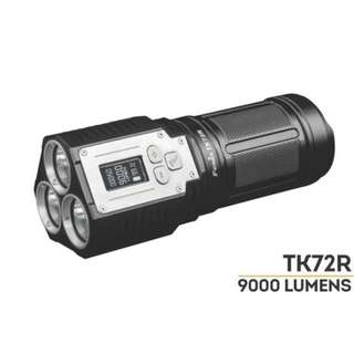 Fenix TK72R Triple XHP-70 9,000 Lumens USB Rechargeable Powerbank Searchlight (With Included Rechargeable Battery)