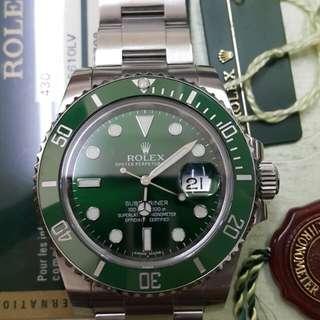 ROLEX SUBMARINE Hulk green