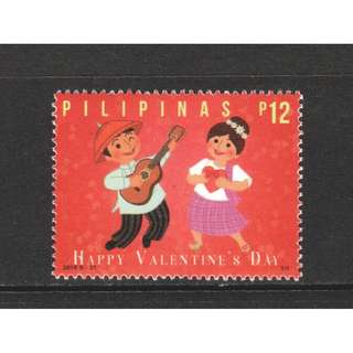 PHILIPPINES 2018 VALENTINES DAY GUITAR & SINGING COMP. SET OF 1 STAMP IN MINT MNH UNUSED CONDITION
