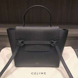 Celine 黑色Belt Bag mini size