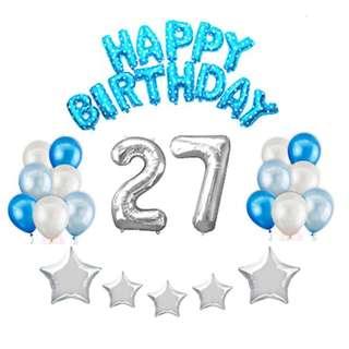 Basic Birthday Party Decors (Blue Bundle) SET1