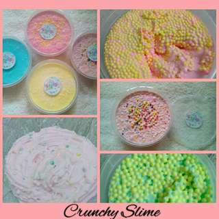 Crunchy Slime with Free Borax available in 100ml. & 250ml.