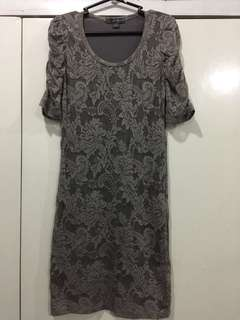 Forever 21 gray lace dress