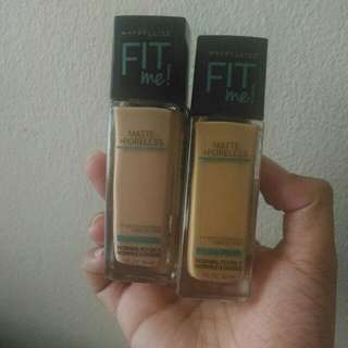 Maybelline Fitme Fit Me Poreless  Foundation