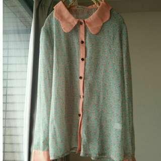 🚚 蘑菇雪紡襯衫