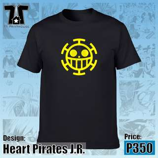 Heart Pirates Jolly Roger | One Piece Anime | Black Blue Red